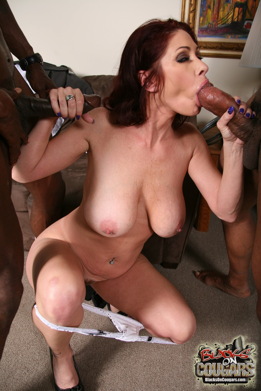 hot trap in stockings sucks her own cock and swallows